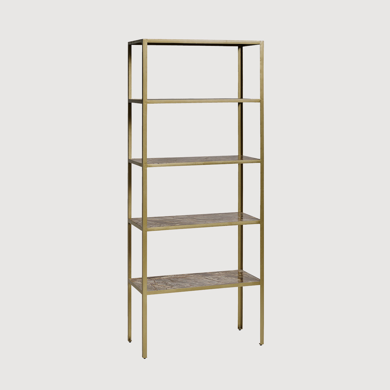Brass Marble Shelves