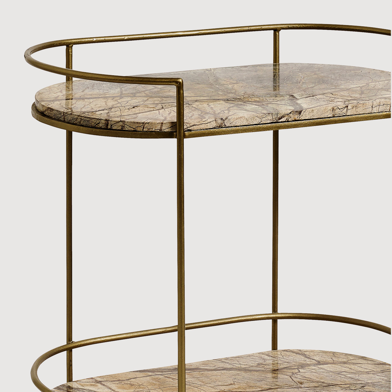 Jungle Oval Marble Side Table gallery image