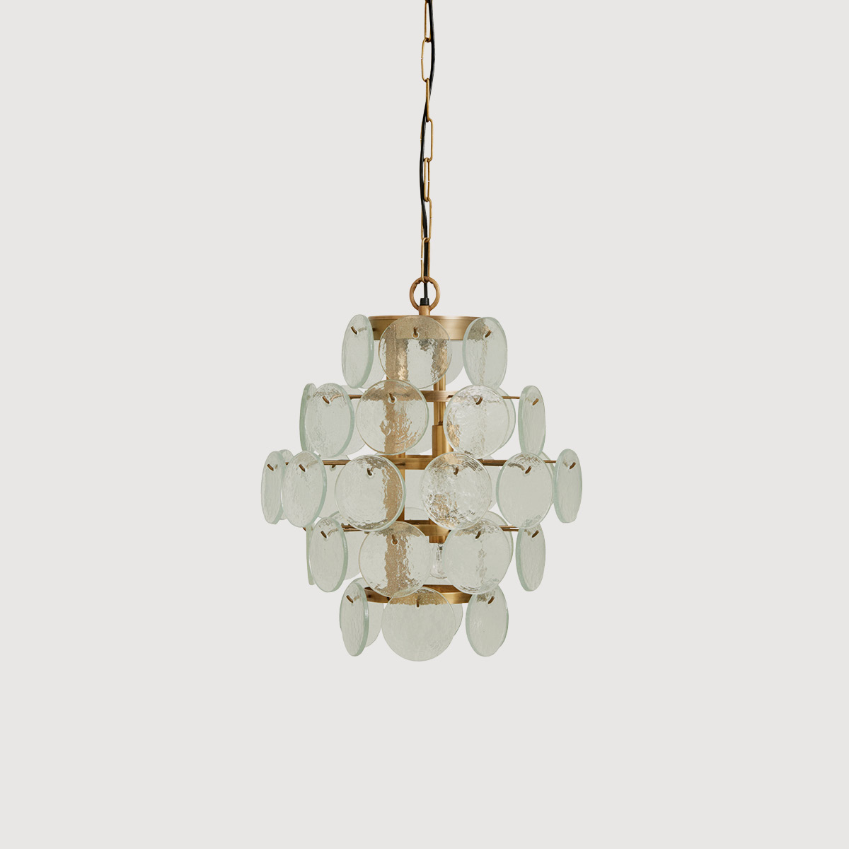 Glass coin modern chandelier