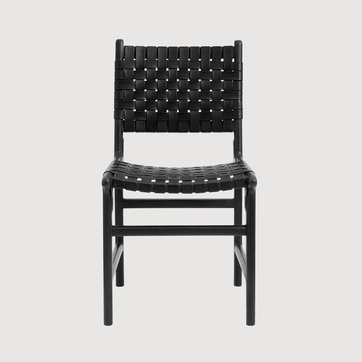 Nero Handmade Black Leather Dining Chair gallery image