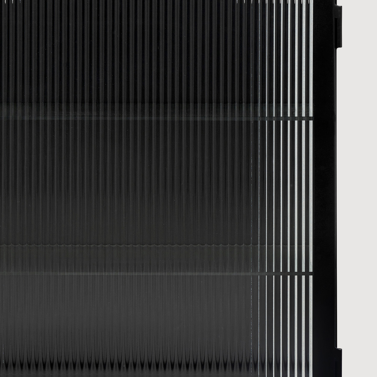 Hudson Black Reeded Glass Wall Cabinet gallery image