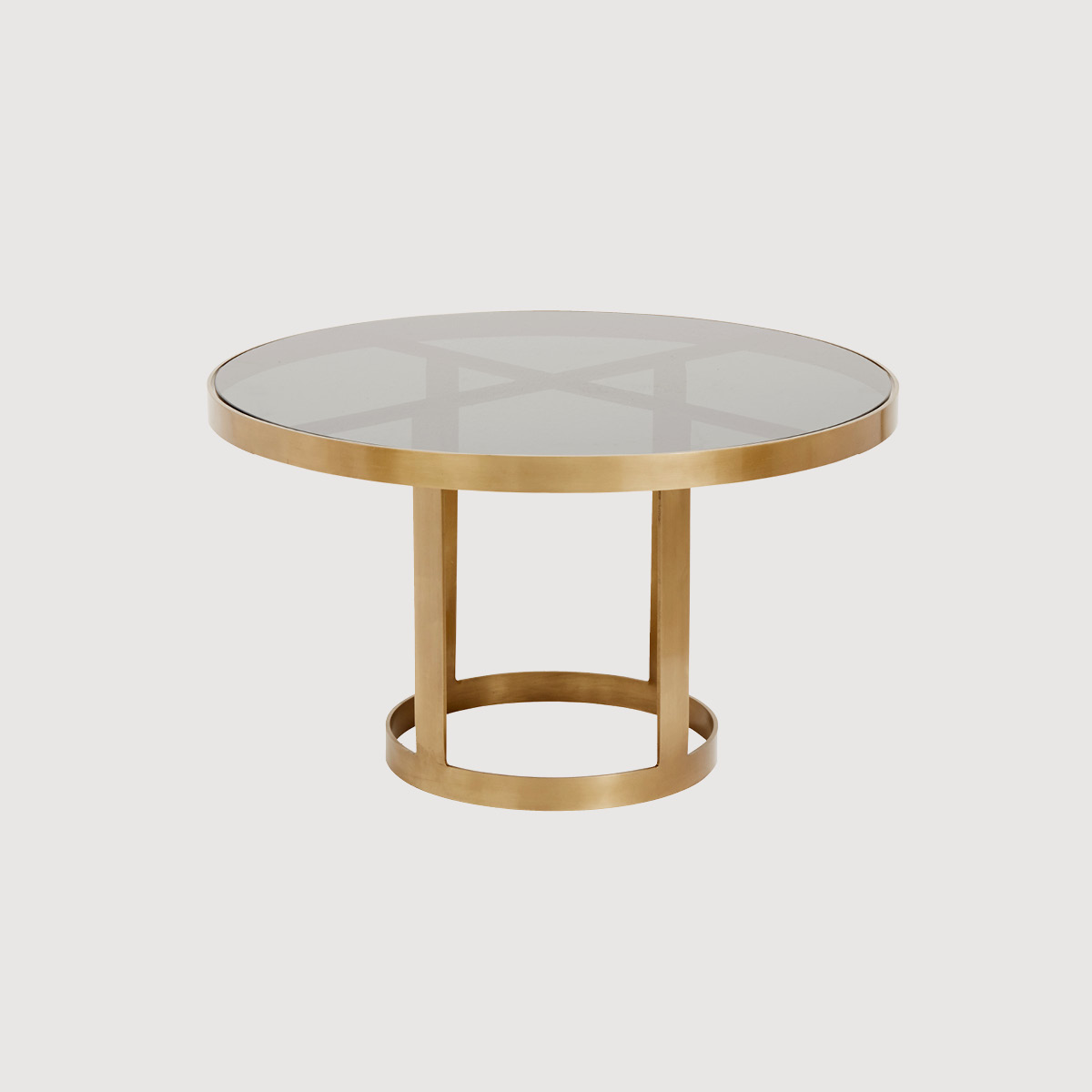 Ascot Gold and Glass Coffee Table