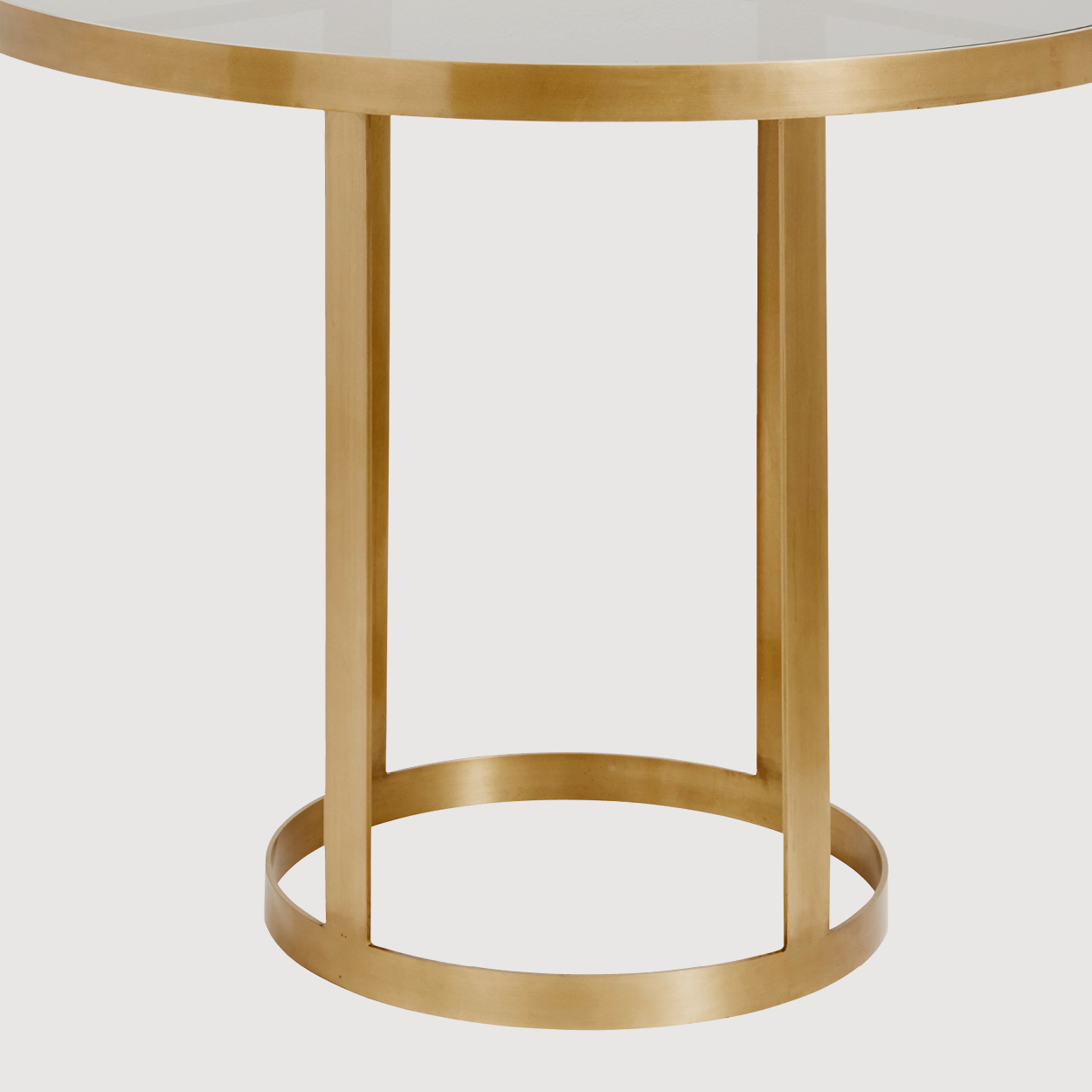 Ascot Gold and Glass Dining Table gallery image