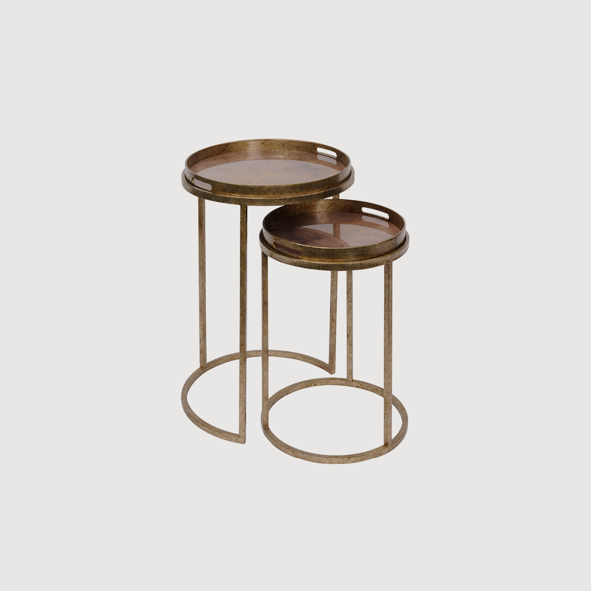 Antique Gold Atlas Side Tables – set of 2