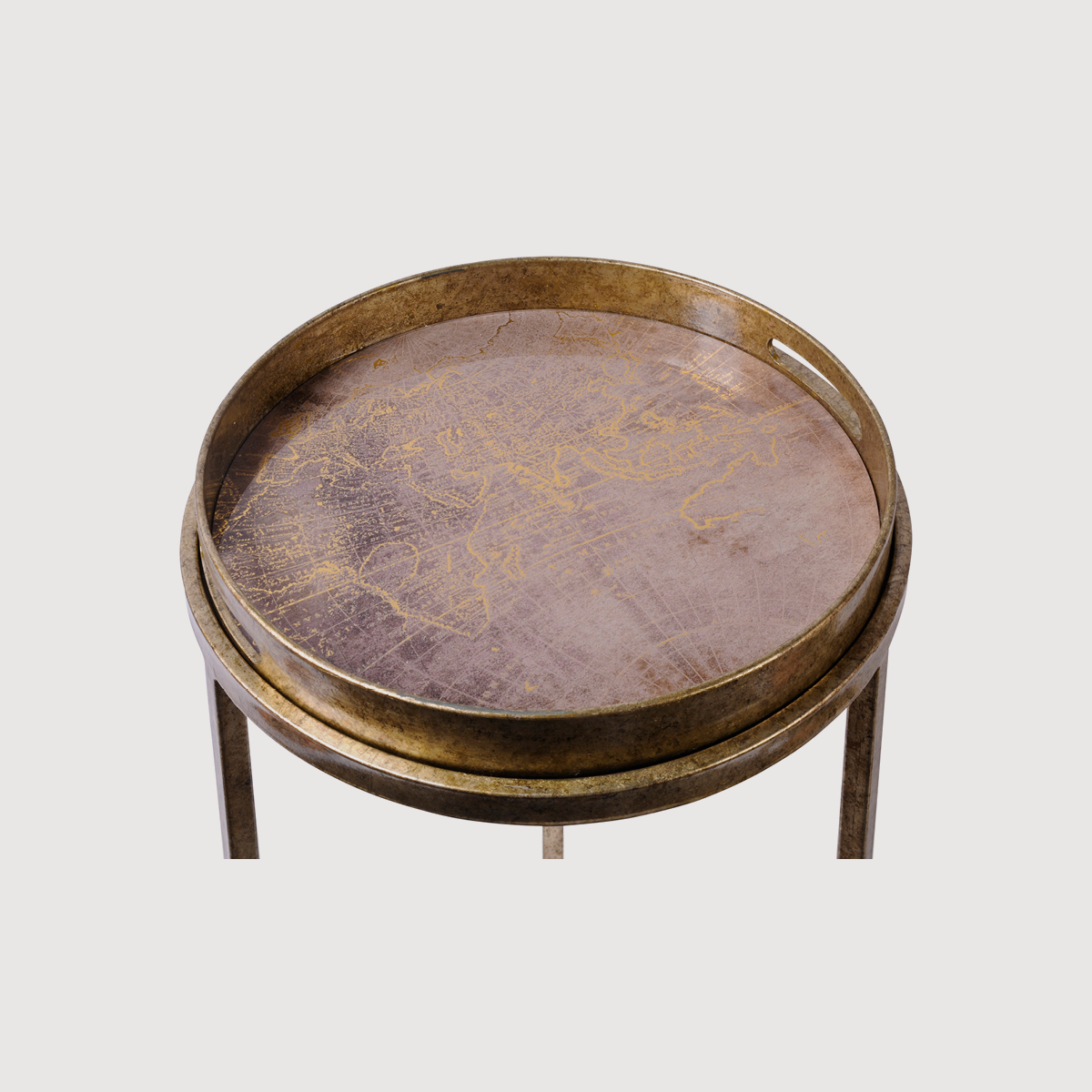 Antique Gold Atlas Side Tables – set of 2 gallery image