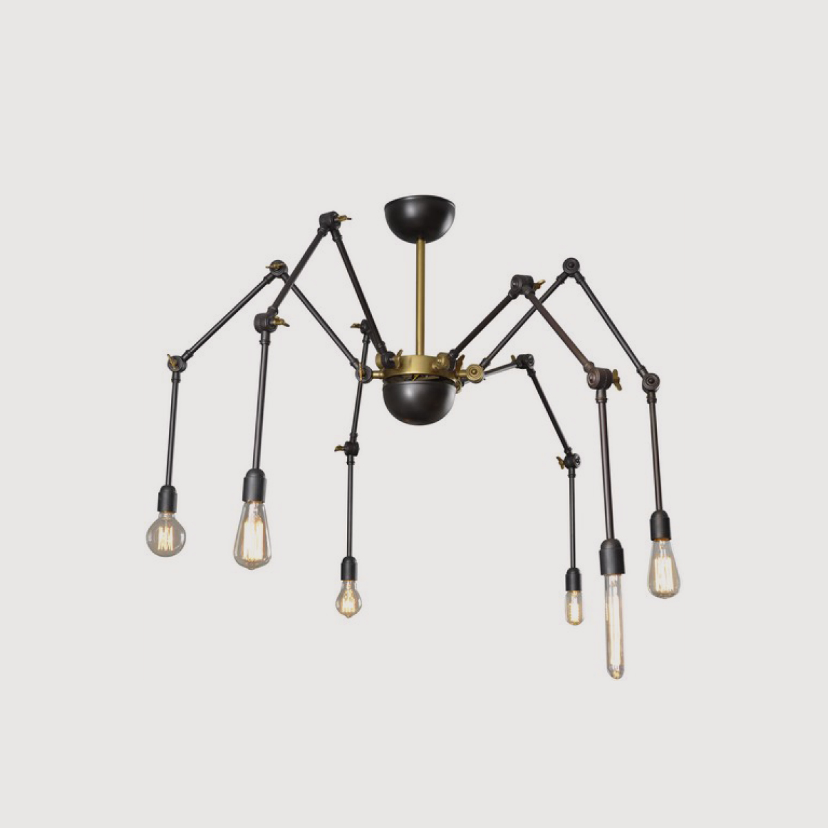 Spider Arm Industrial Chandelier