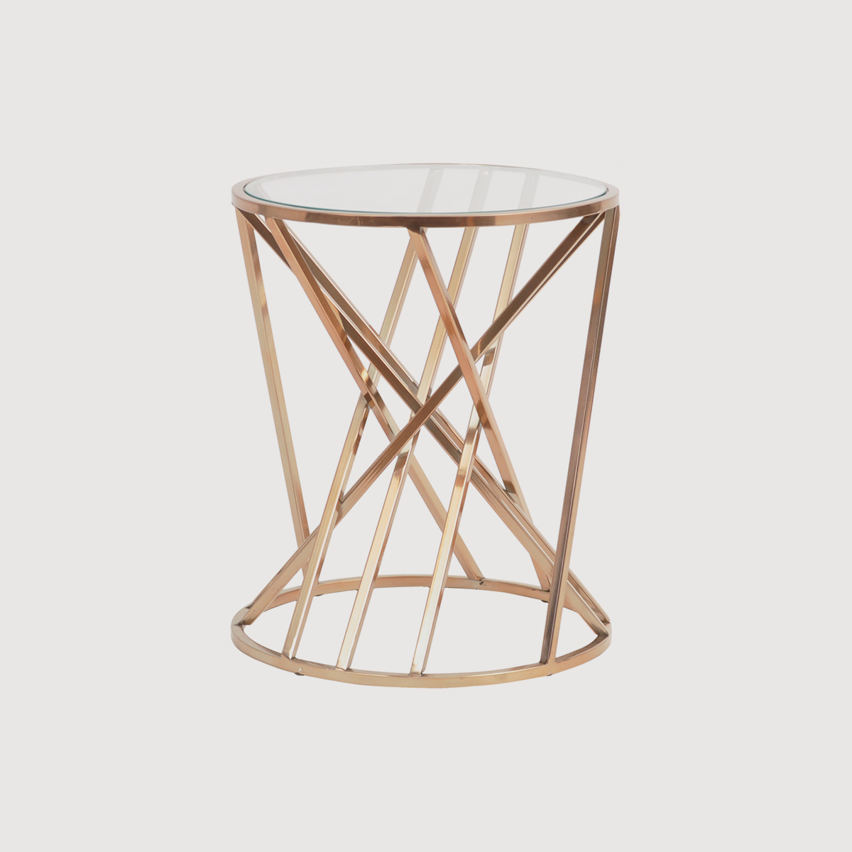 Copper Twist Side Table