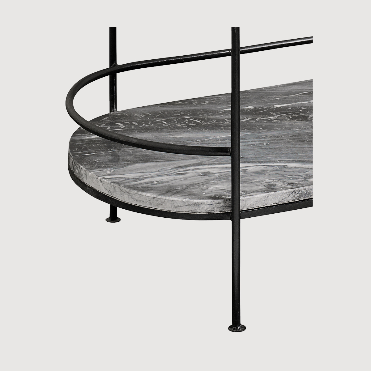 Midnight Oval Marble Side Table gallery image