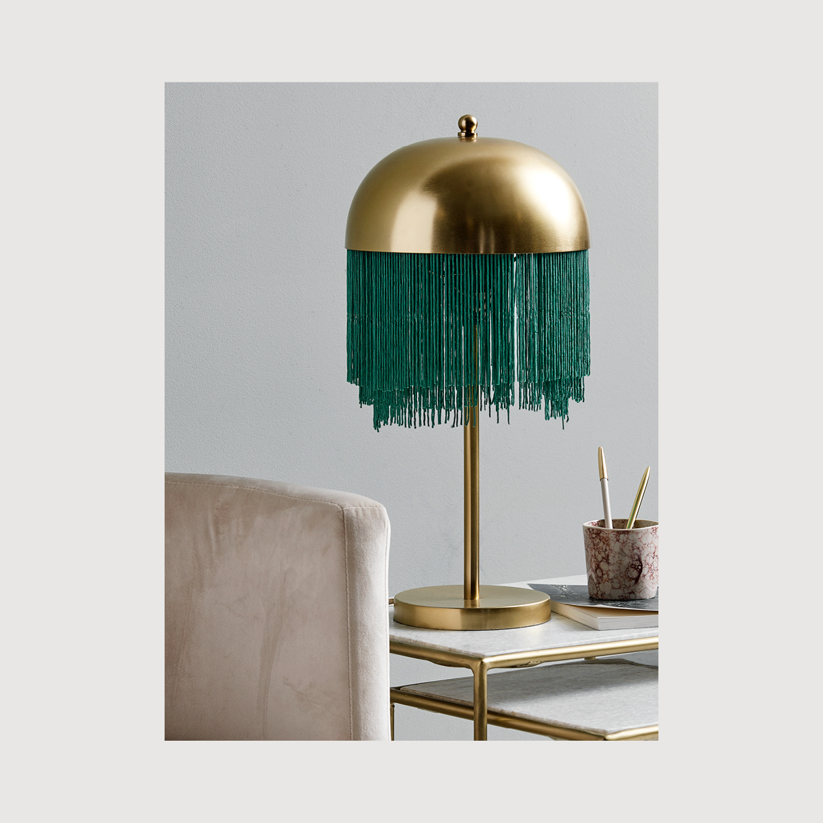 Brass Tassel Desk Lamp Nordal