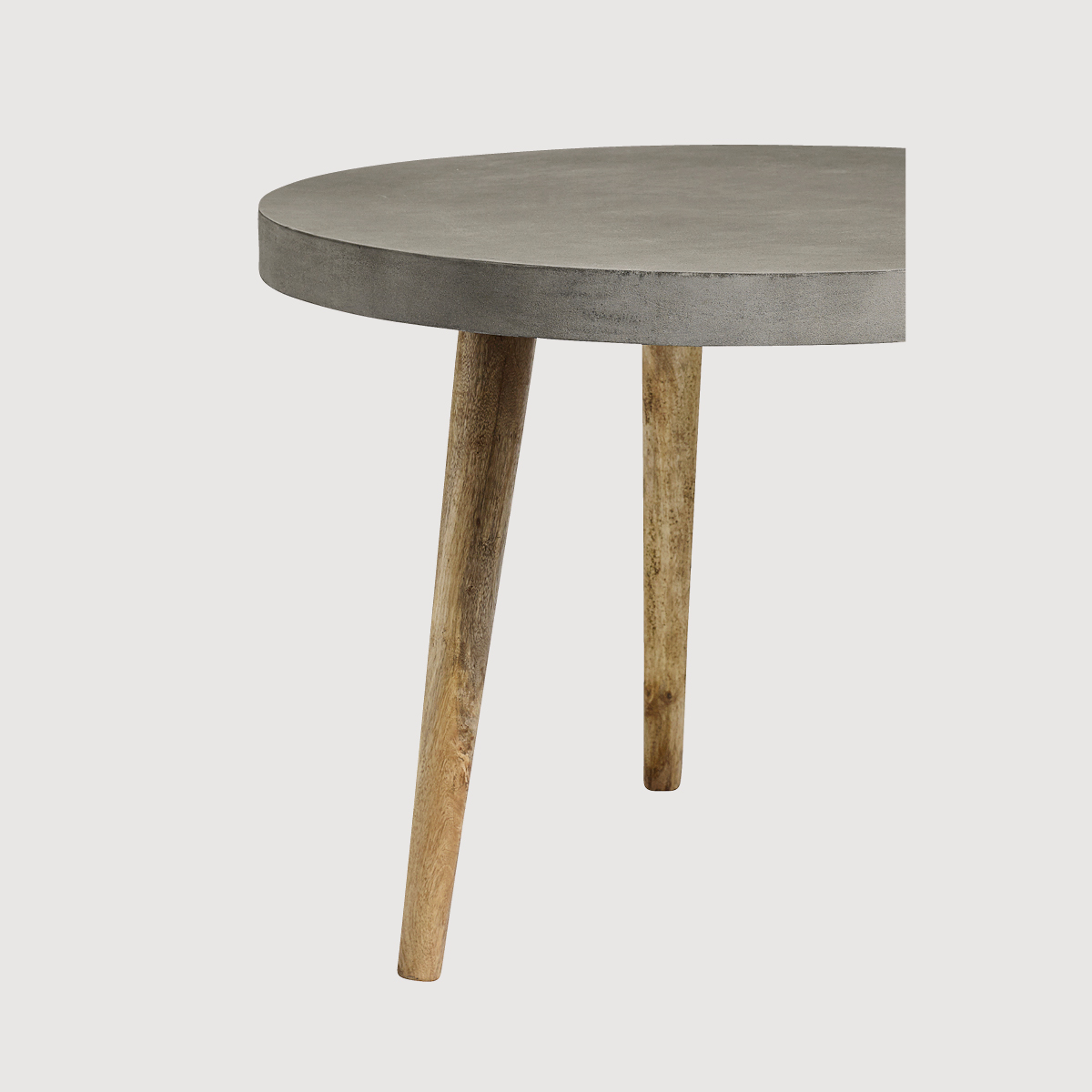 Margie Round Concrete Dining Table – two colours gallery image