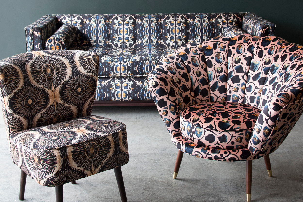 anna hayman, house of Sloane, cocktail chair, velvet sofa, velvet chair