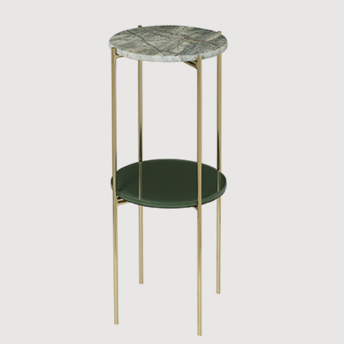 Fryd Marble Pedestals – Forest Green (set of 2) gallery image
