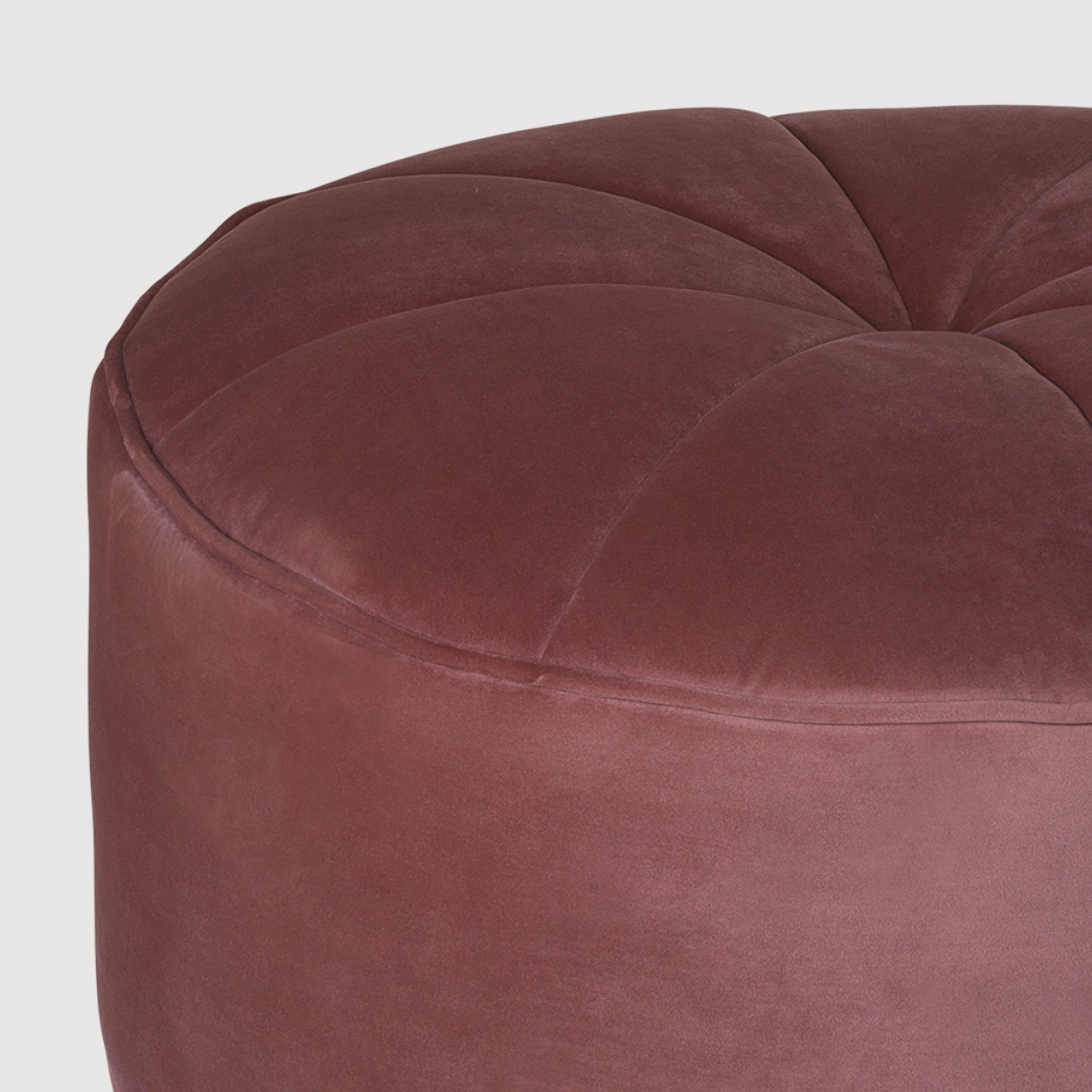Large Velvet Pouf – Rouge gallery image
