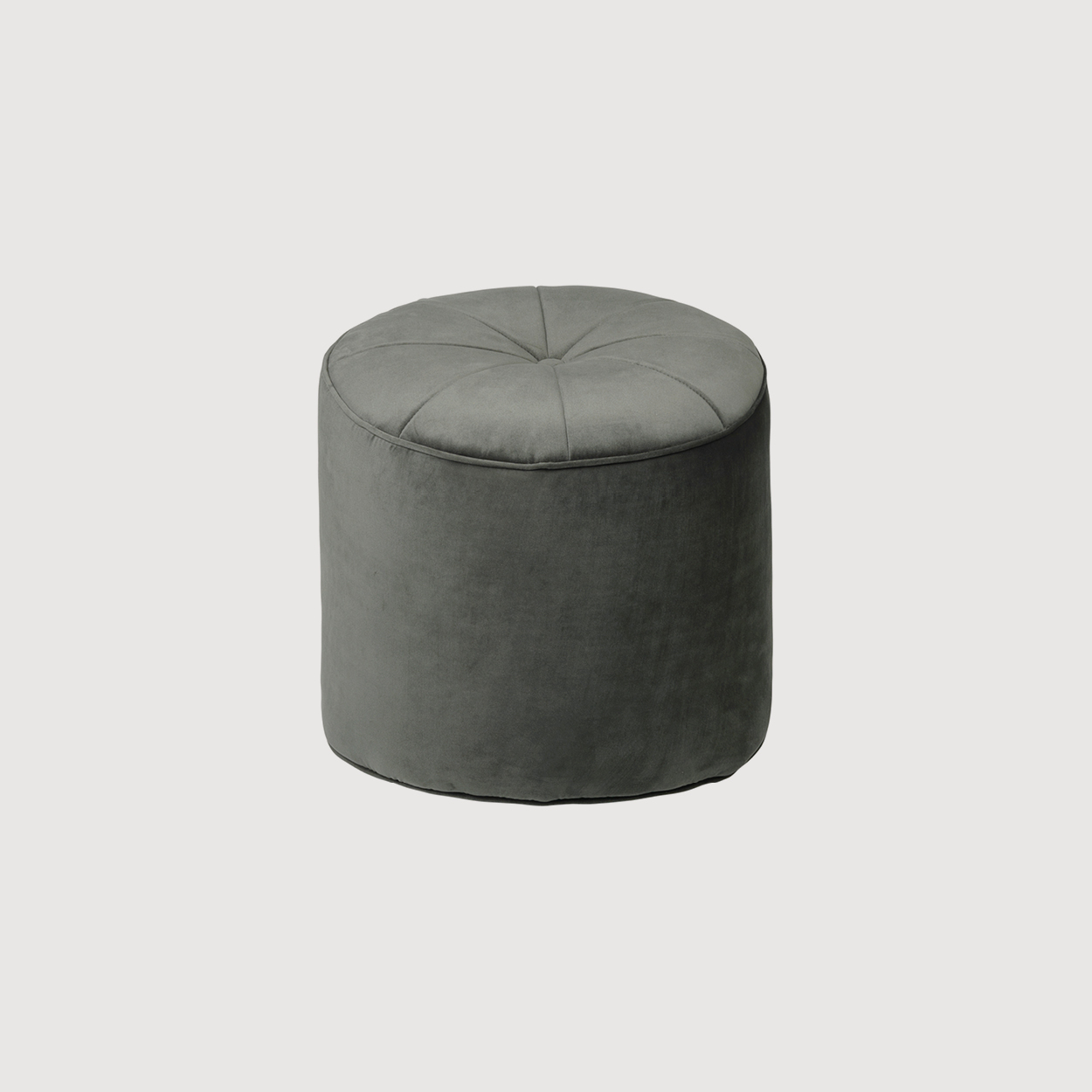Green Velvet Footstool