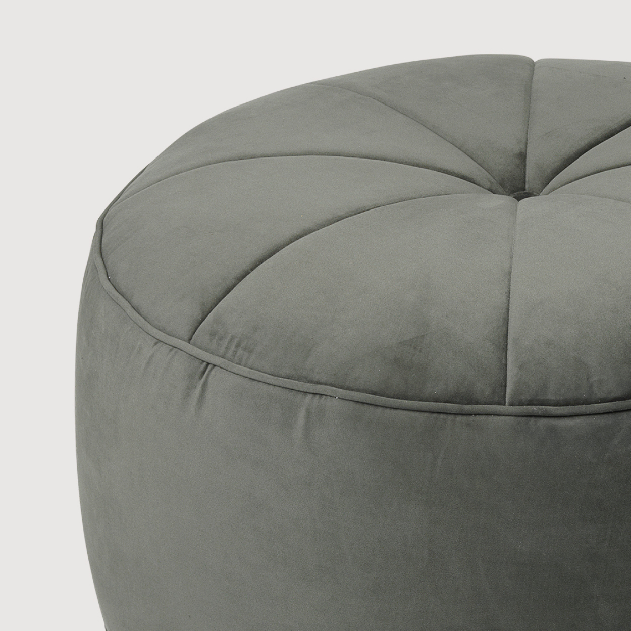 Large Velvet Pouf – Army gallery image