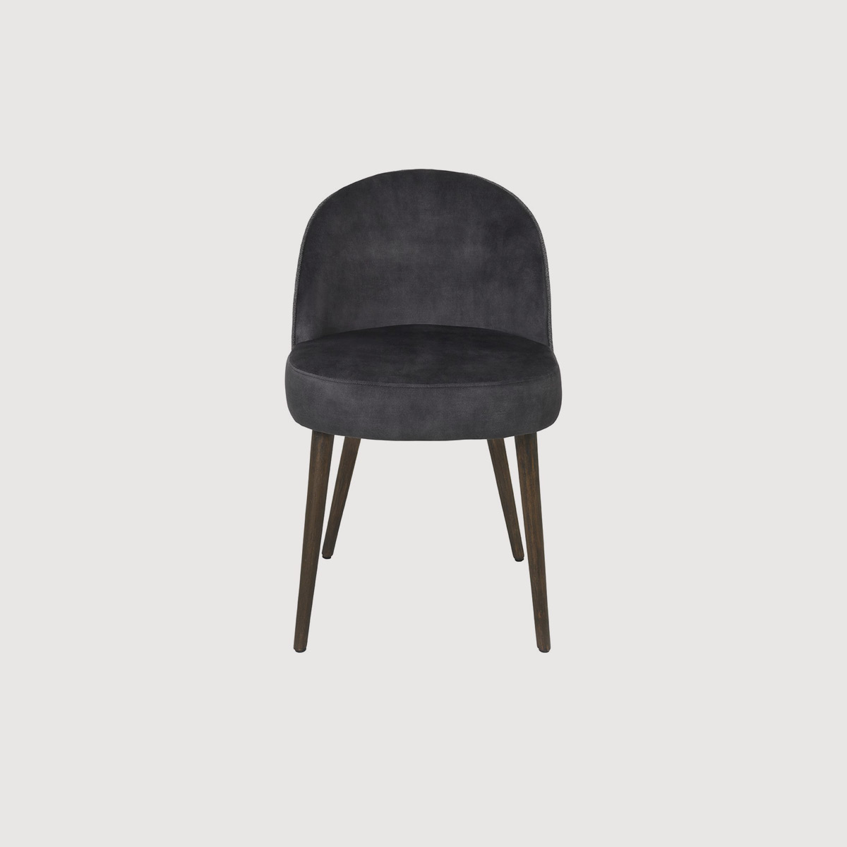 Charcoal Velvet Dining Chair
