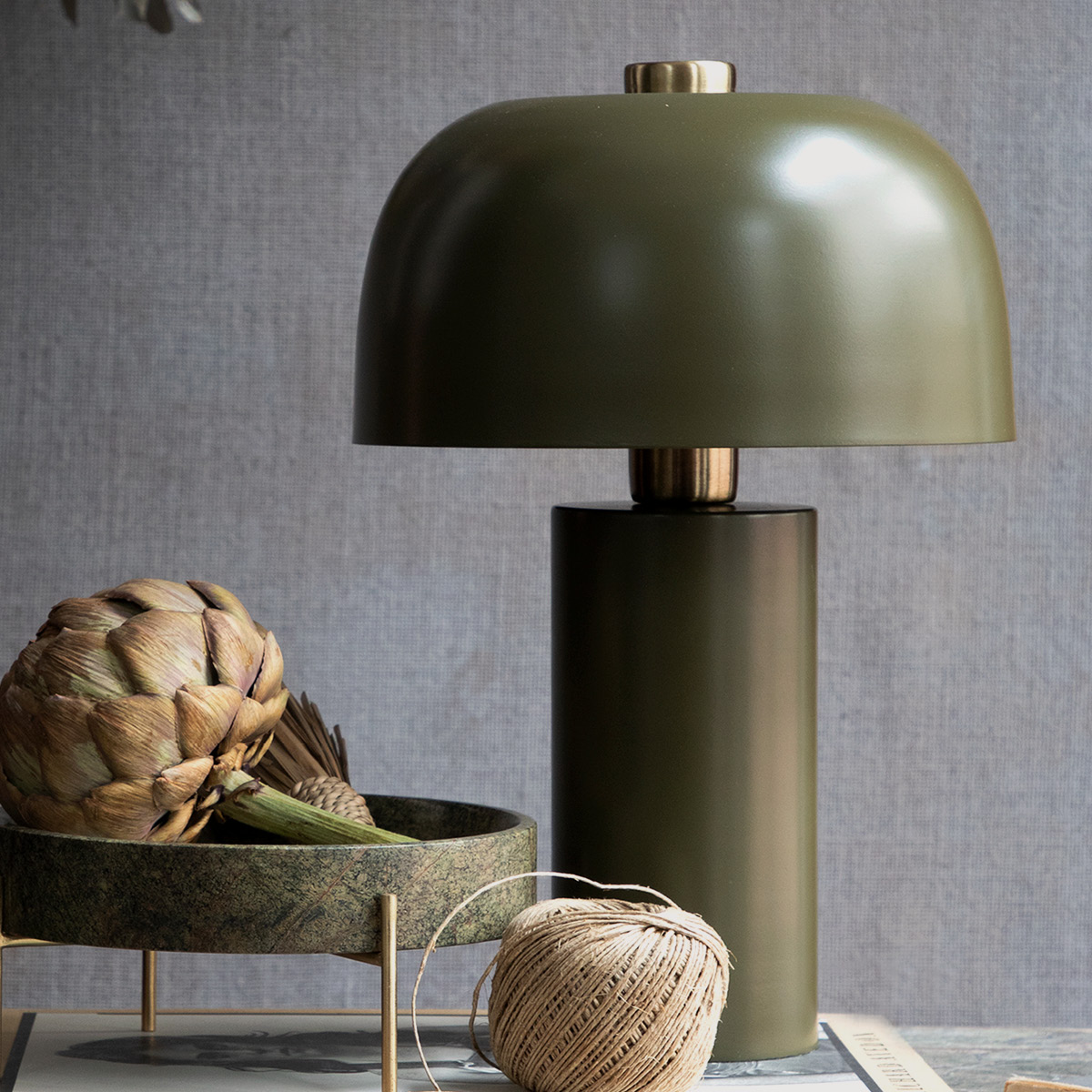 Lulu Table Lamp – Army Green gallery image