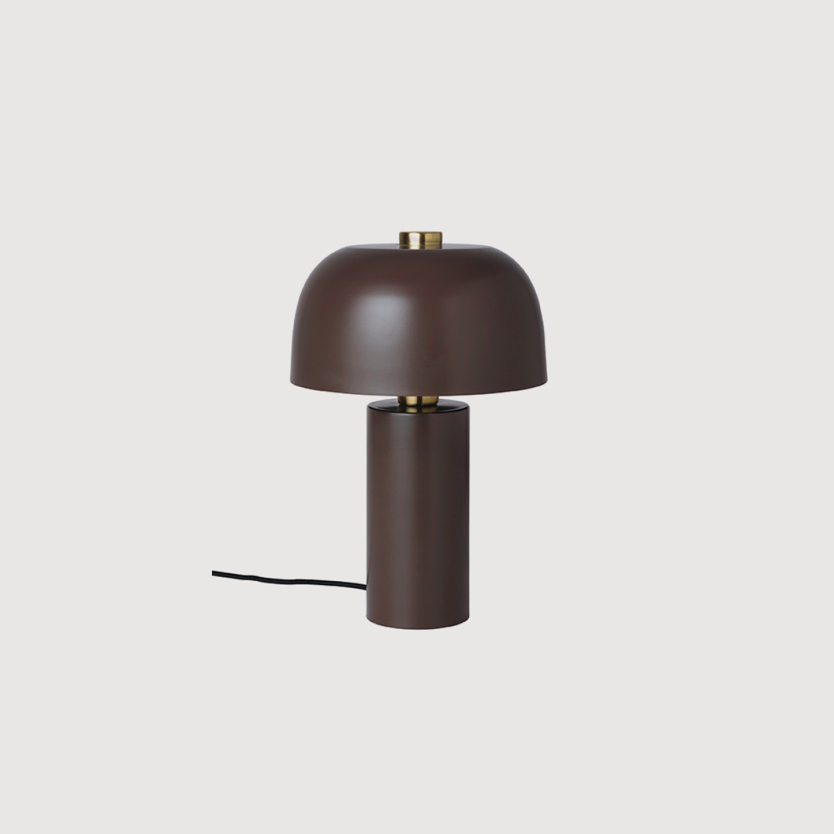 Brown brass table lamp
