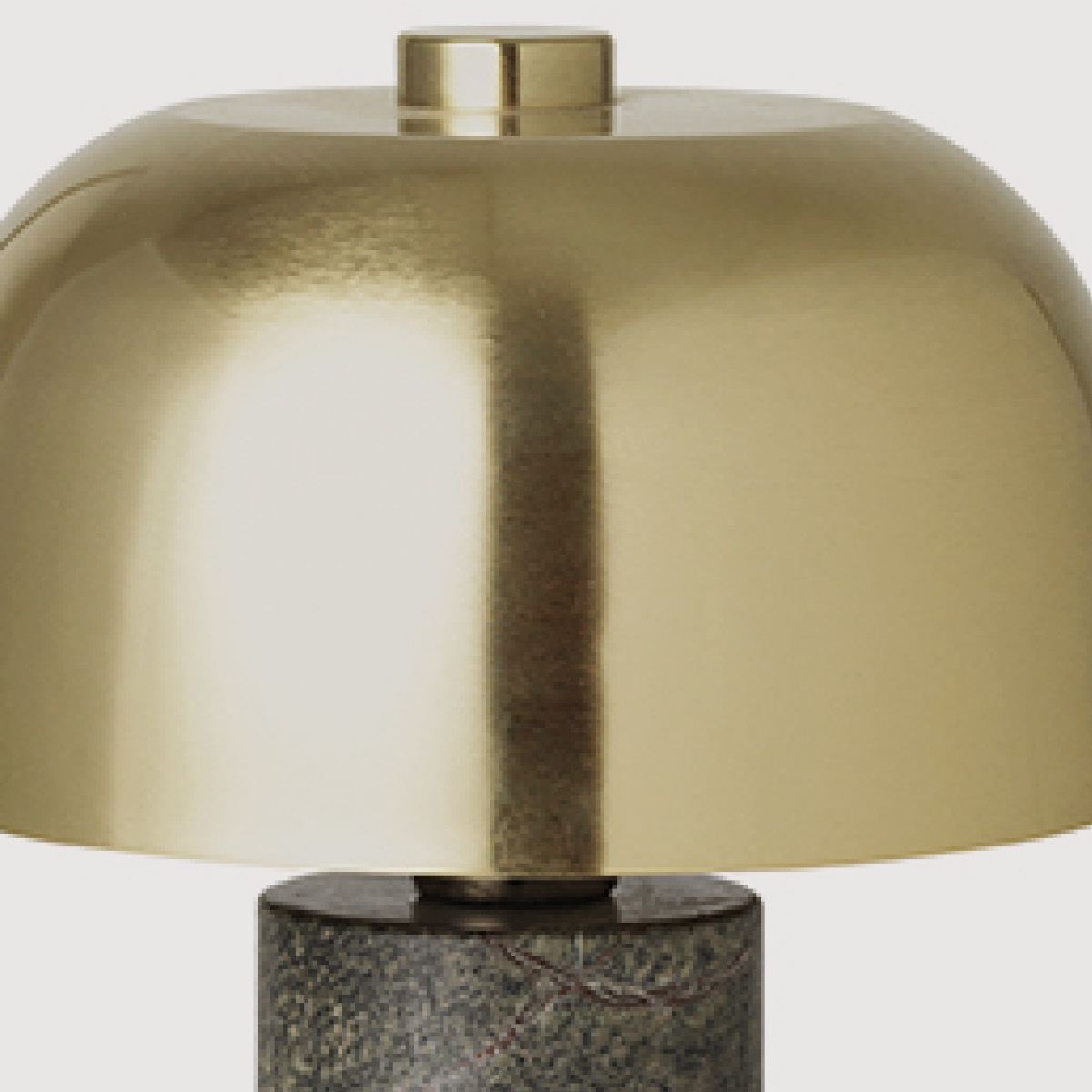 Lulu Table Lamp– Forest Green Marble & Brass gallery image