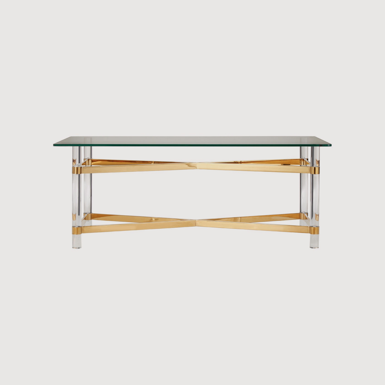 Clarence Glass and Gold Coffee Table gallery image