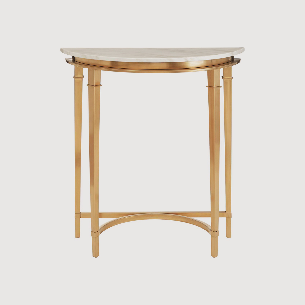 Alvaro Half Moon Marble Console Table gallery image