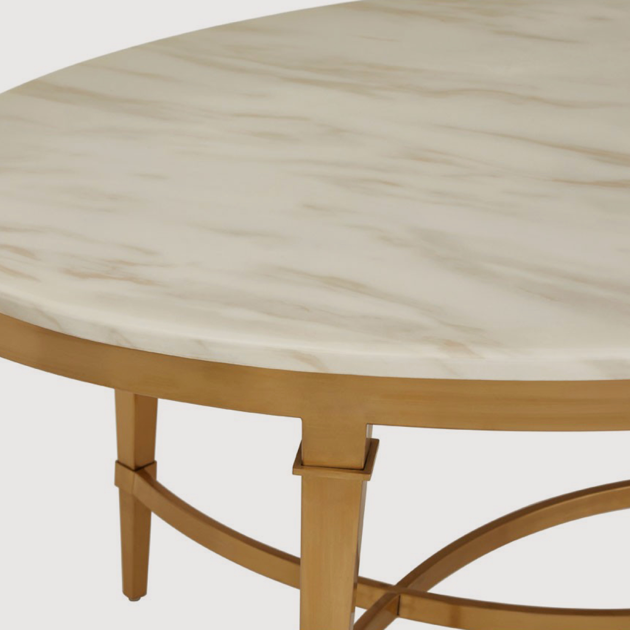 Alvaro Marble Coffee Table – Oval gallery image