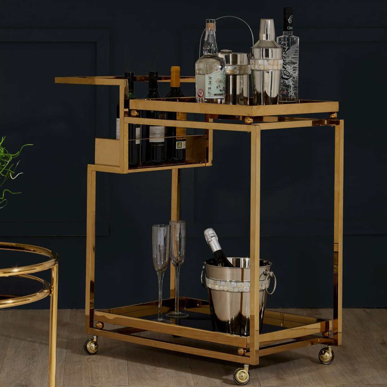 Novo Gold Drinks Trolley – Two Tier gallery image