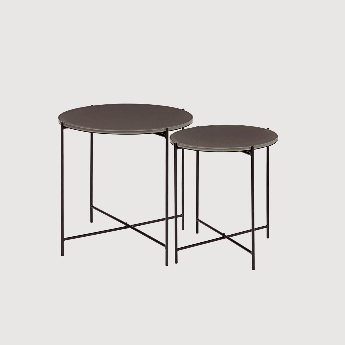 Glass Nested Side Tables
