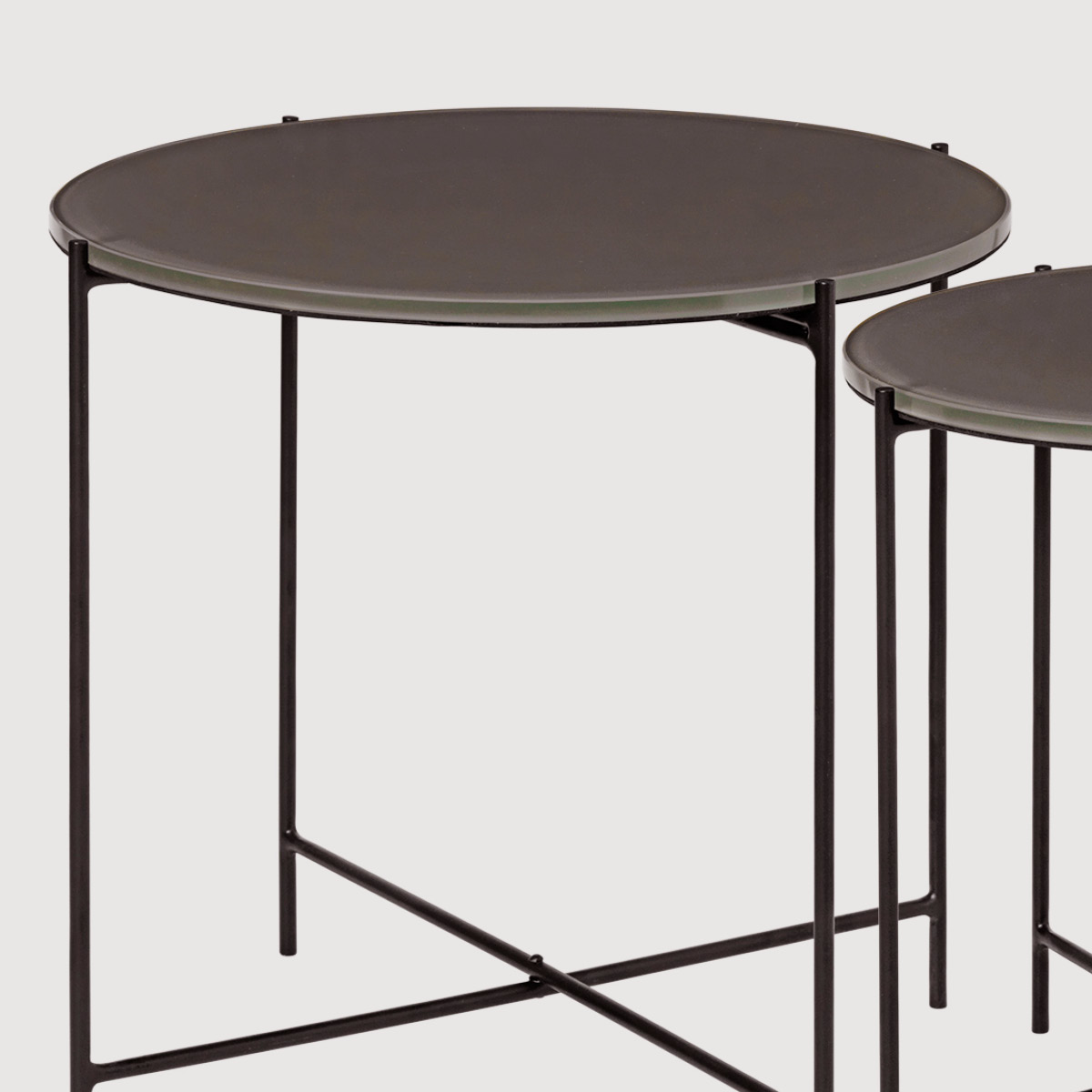 Freja Glass Tables – Taupe gallery image