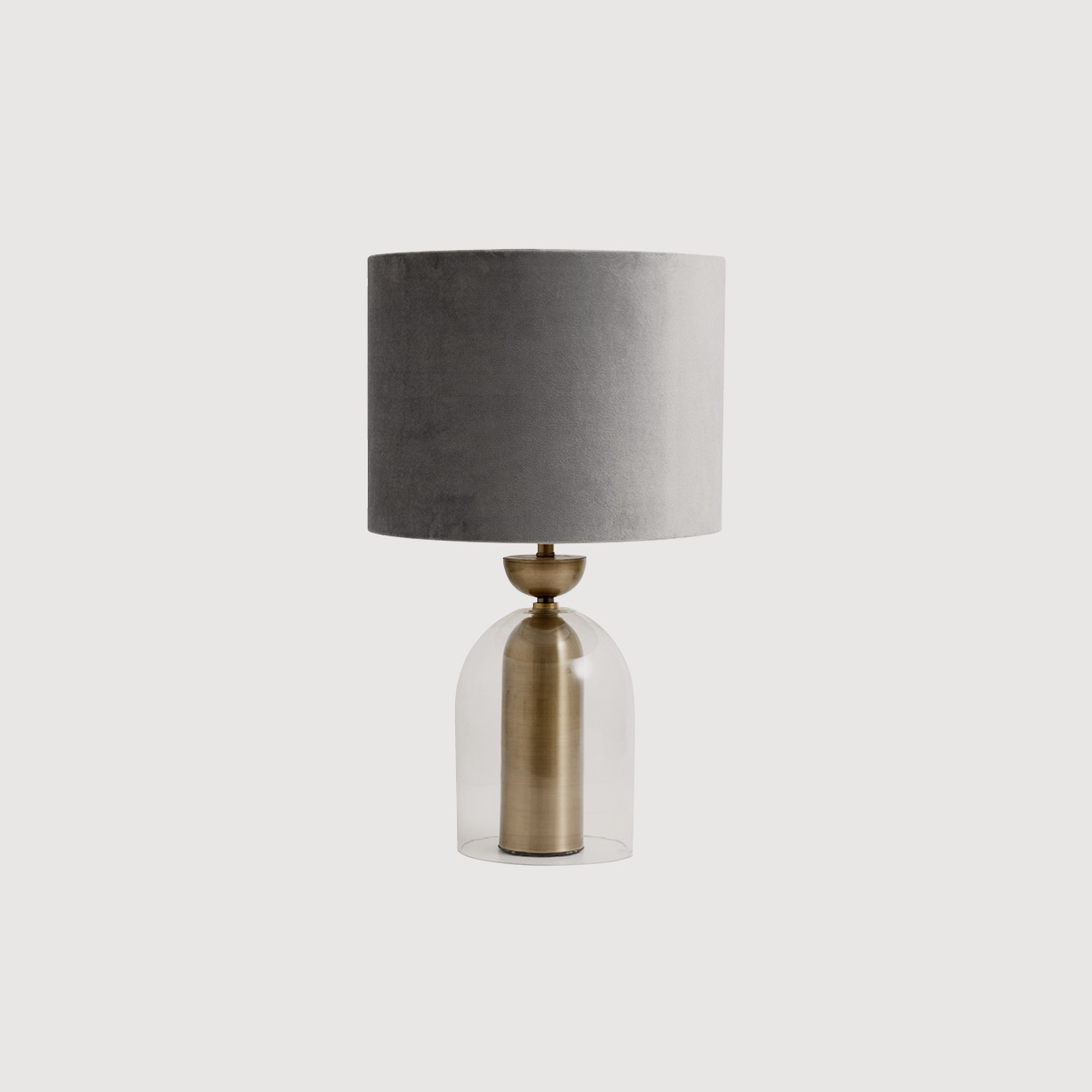 Lune Glass and Brass Lamp Base gallery image
