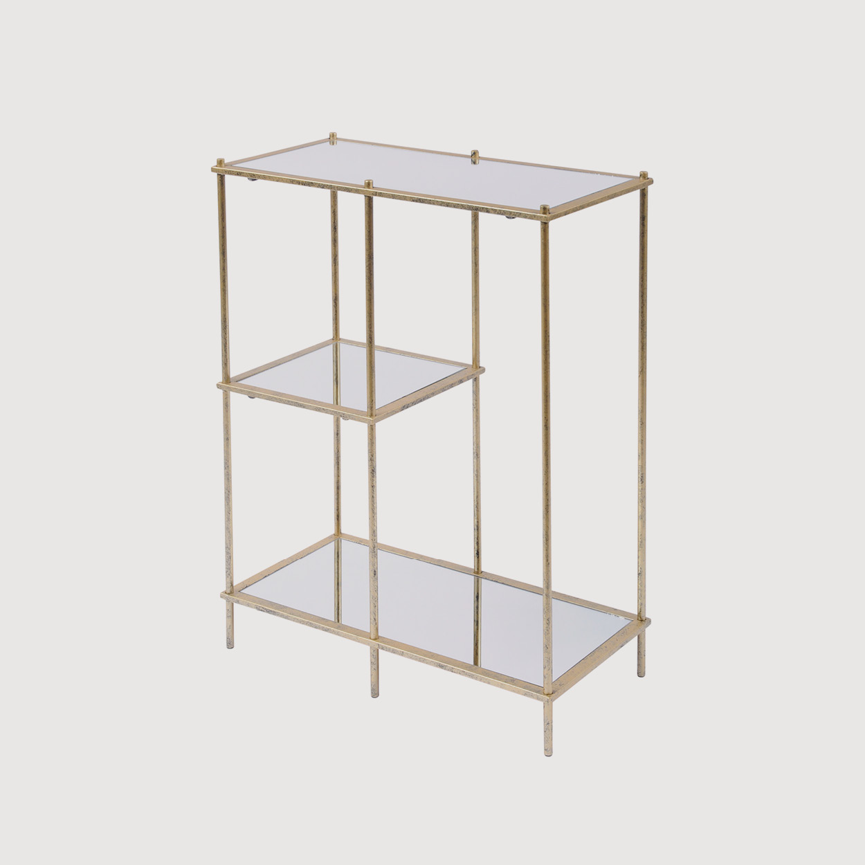 Gold Mirror Shelving Unit