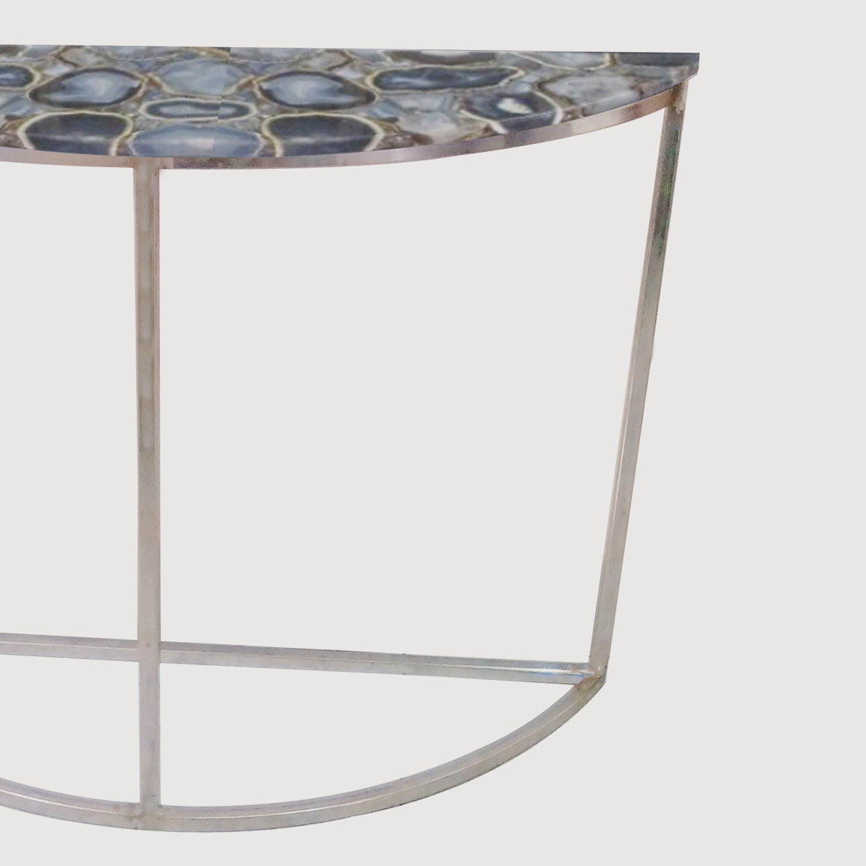 Agate Crescent Console Table On Nickel Frame gallery image