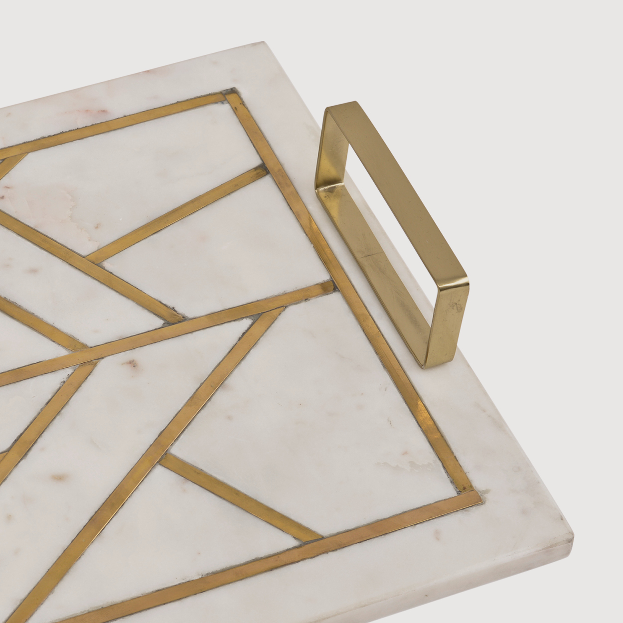 Marble Tray with Brass Inlay gallery image