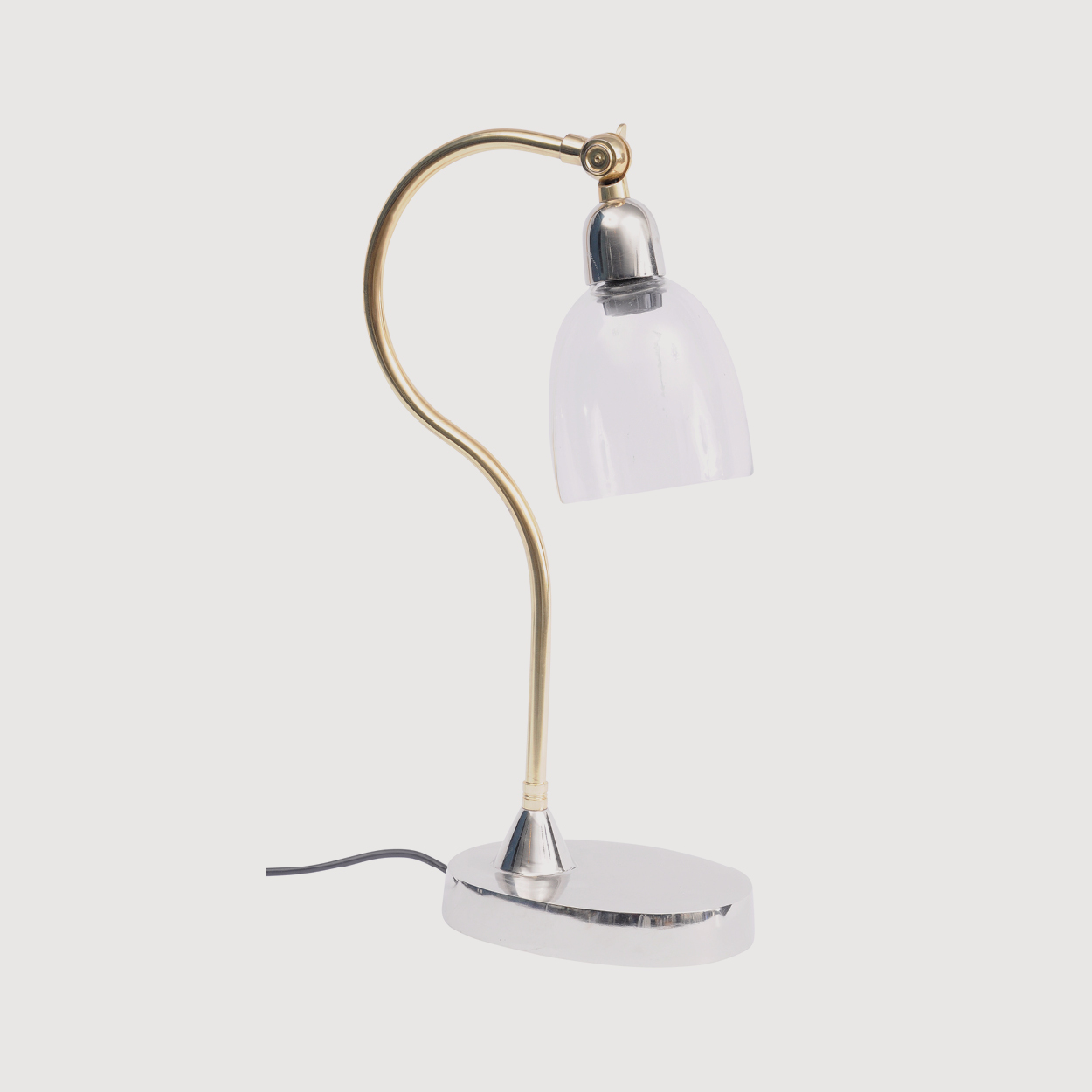 Glass and Brass Desk Lamp