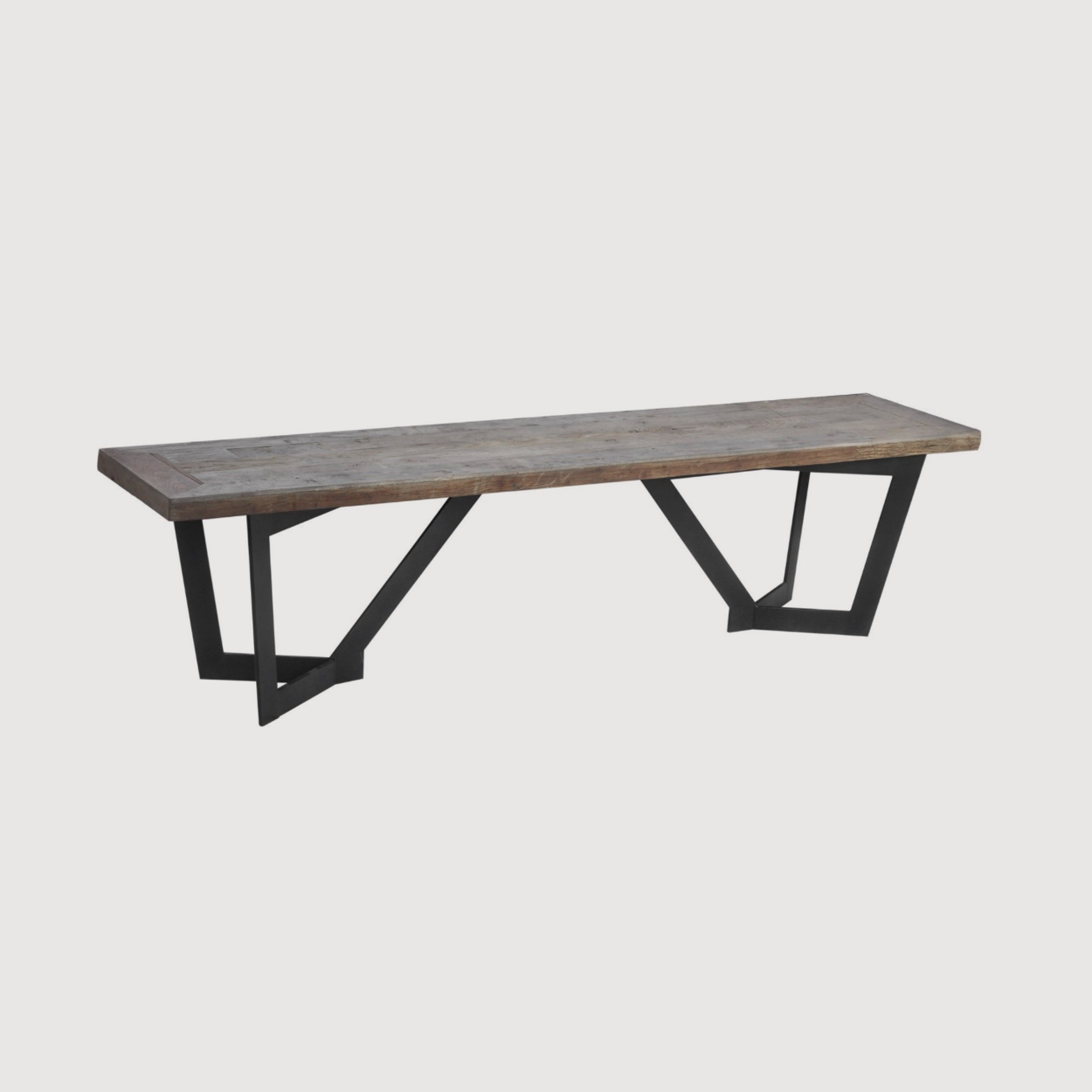 Glenmore Recycled Elm And Iron Rectangular Bench gallery image