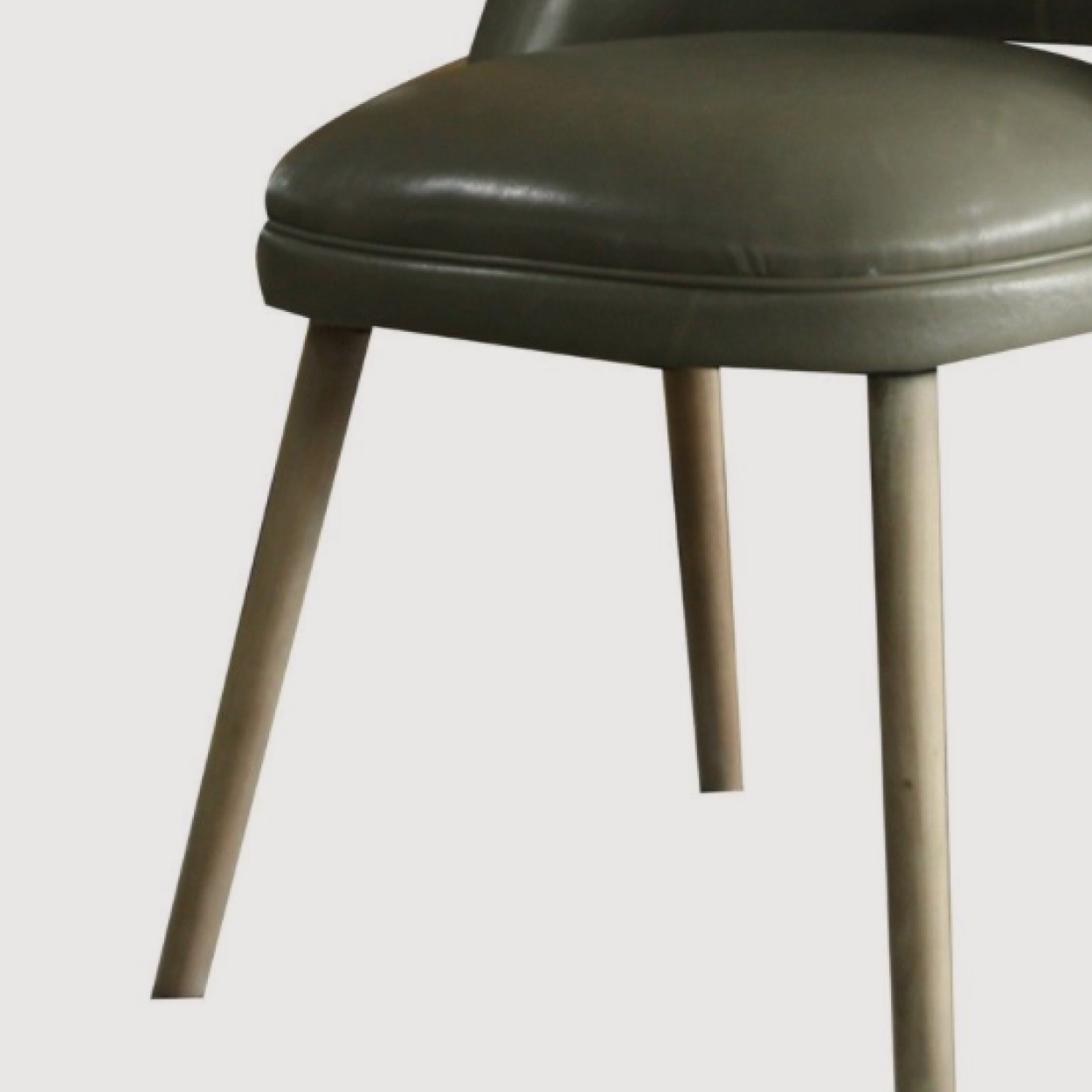 Helix Green Leather Dining Chair gallery image