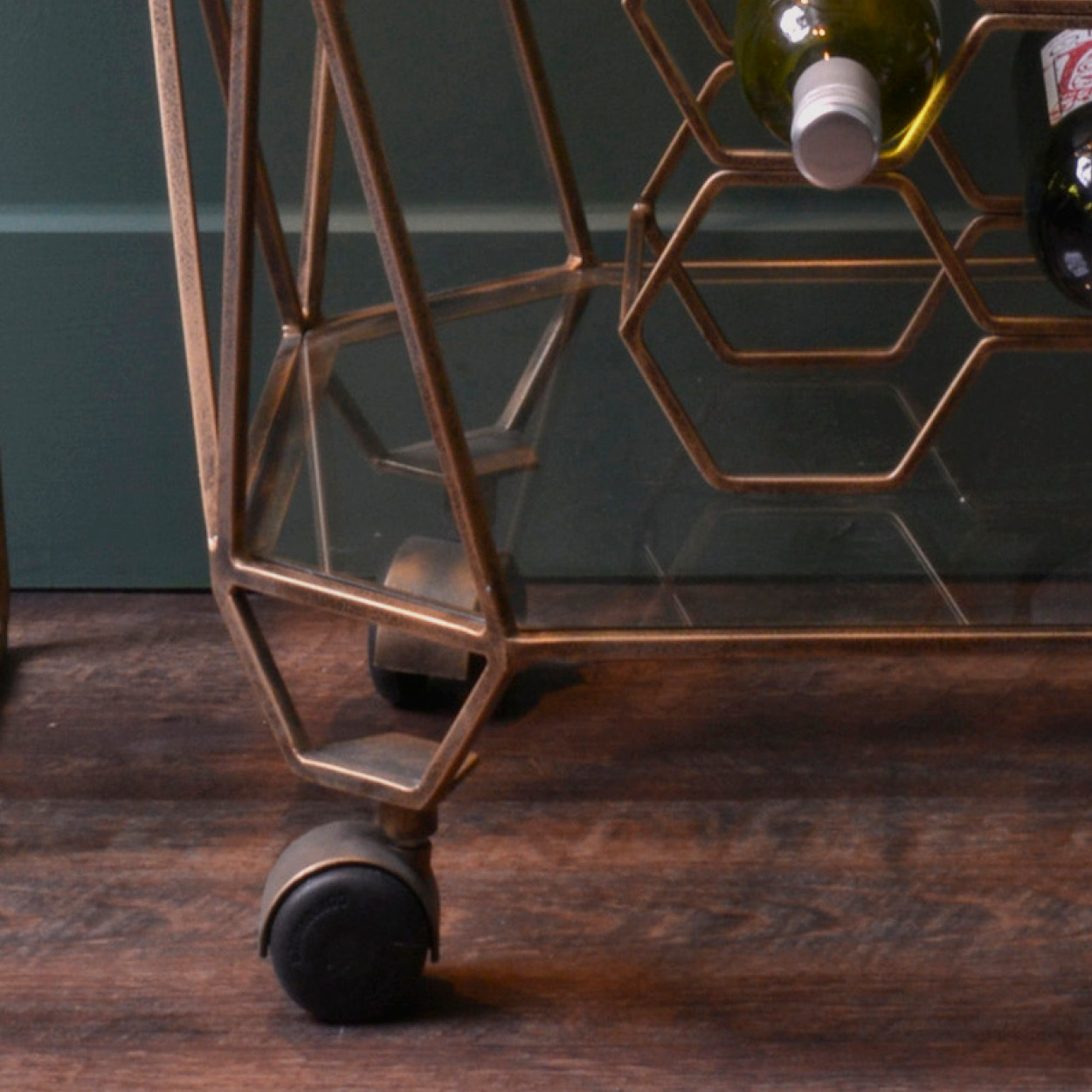 Geometric Gold Bar Trolley gallery image