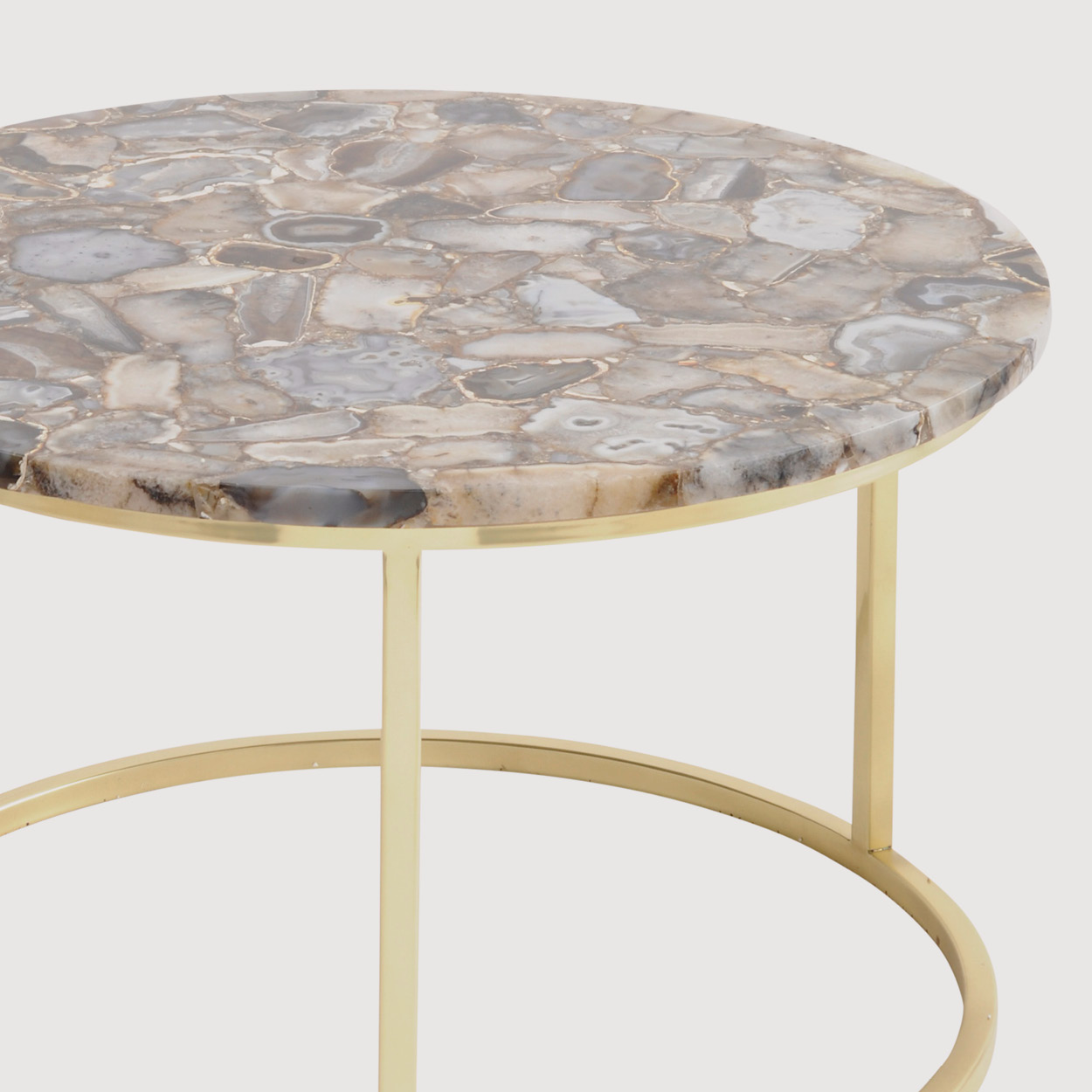 Agate Round Coffee Table – Brass Frame gallery image