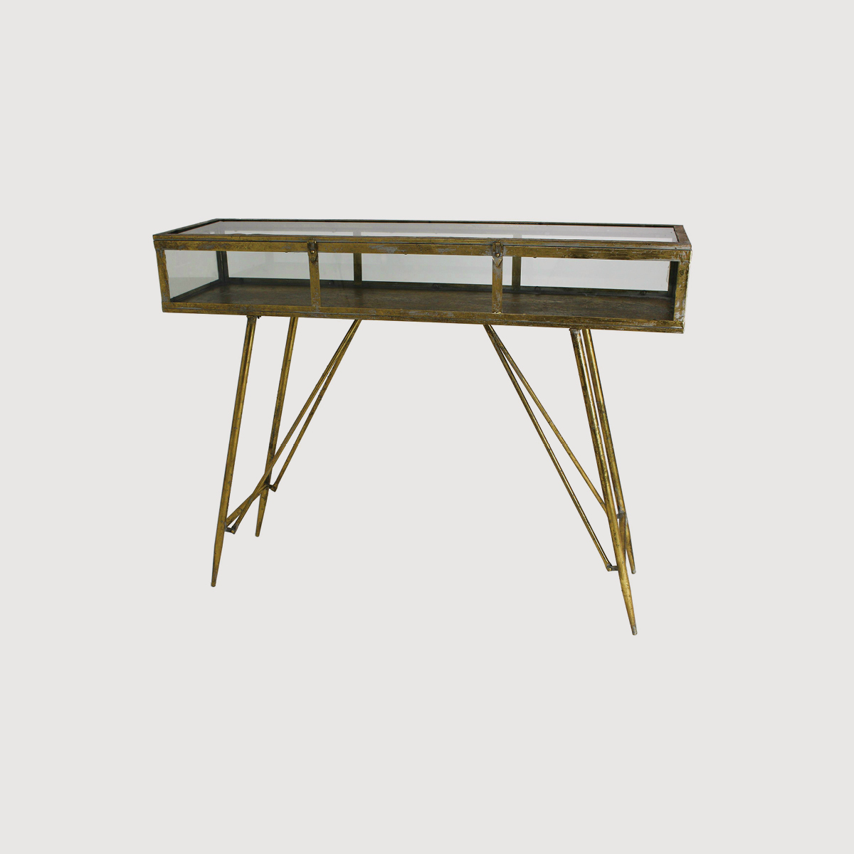 Cohan Console Cabinet Table – Gold gallery image