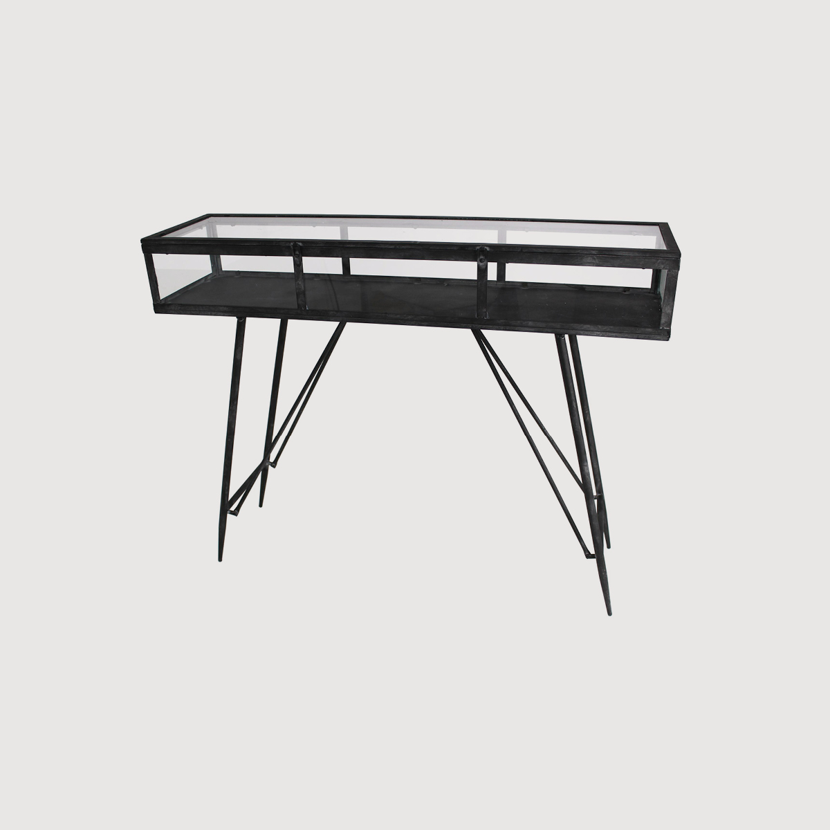 Cohan Console Cabinet Table – Black gallery image