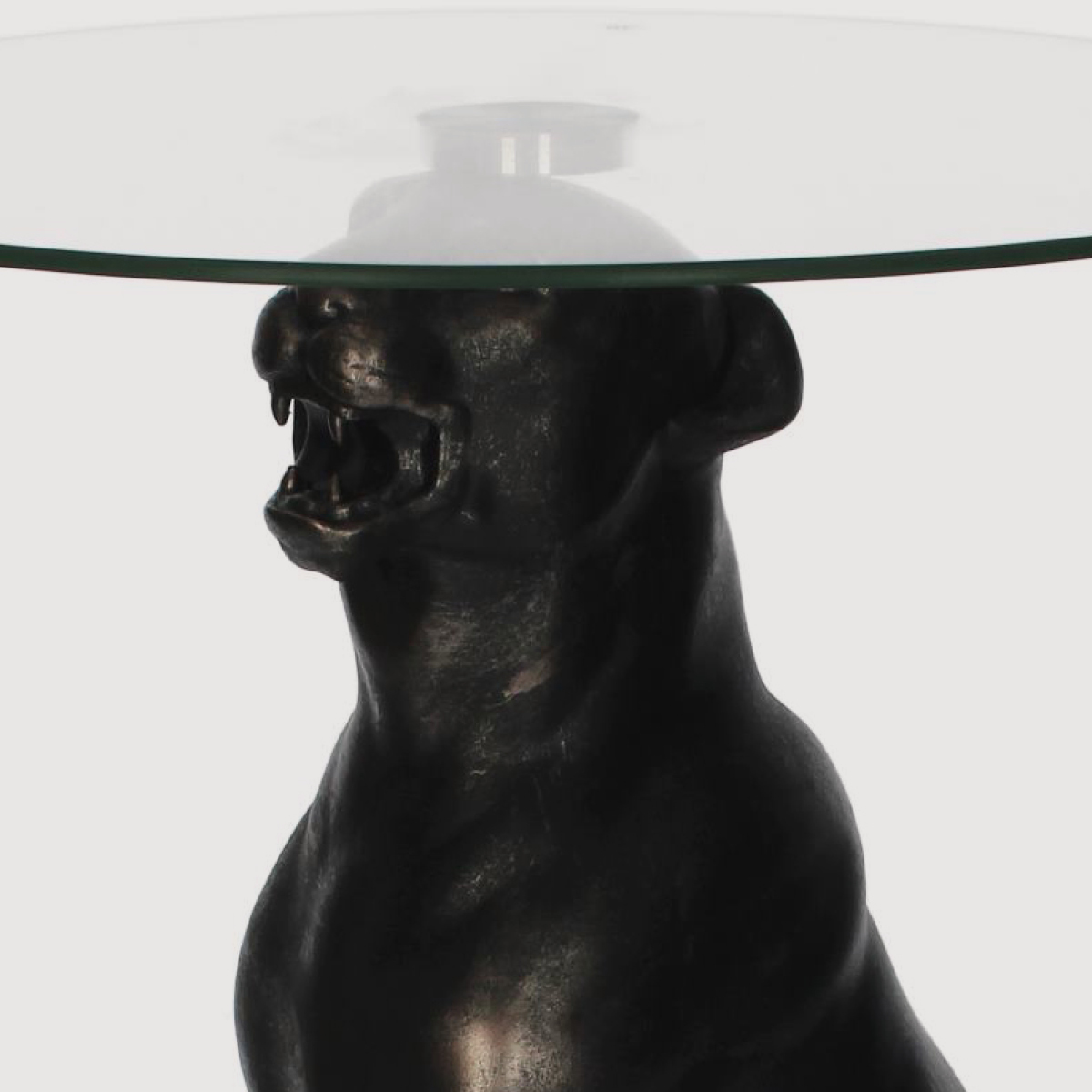 Antique Black Leopard Side Table gallery image