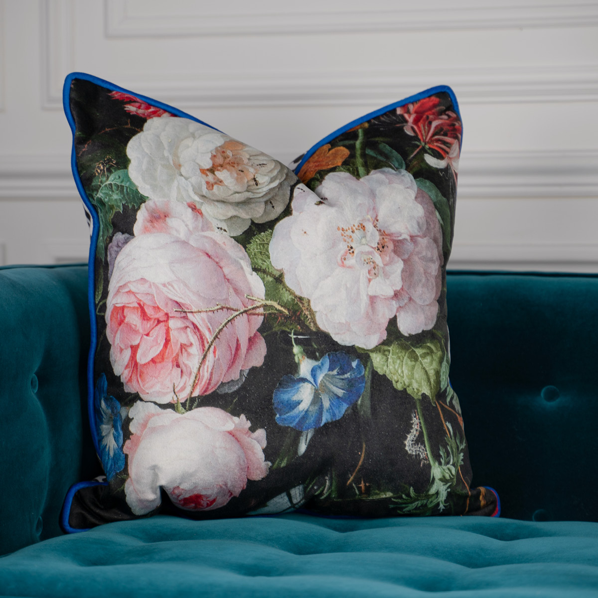 Corn Rose Velvet Cushion