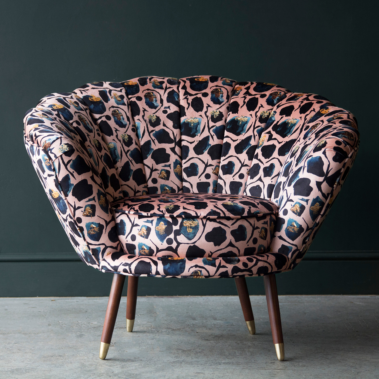 velvet armchair, velvet cocktail chair, Anna Hayman, house of sloane